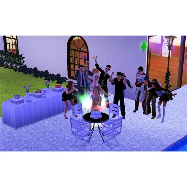 Sims 3 Inferno Birthday Cake