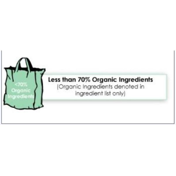 Less than 70% Organic Ingredient USDA Labels