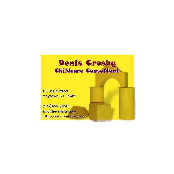 This childcare business card can be a fun way to network and promote your business