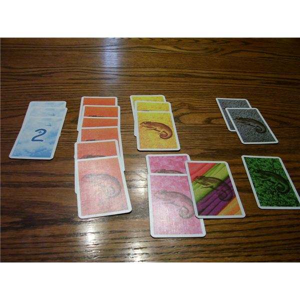 The same hand, using the gray scoring table, is worth 22 points.