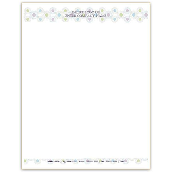 Dots and Circles Letterhead