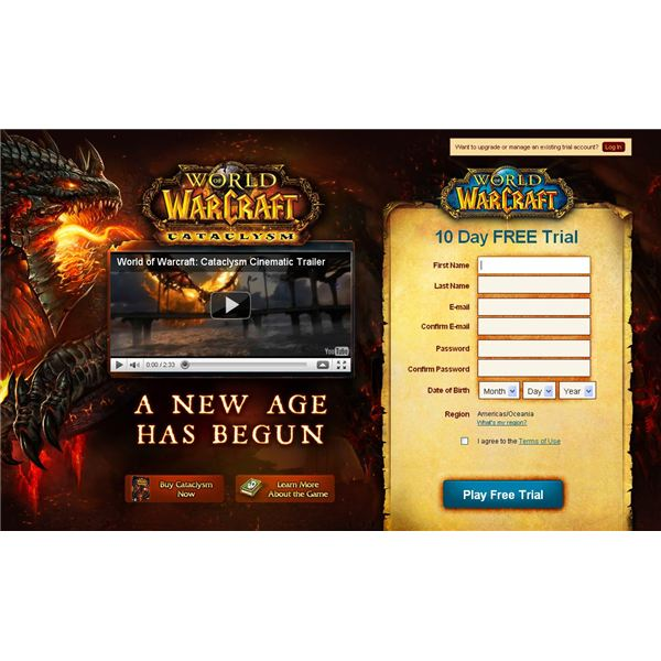 World of Warcraft Screen