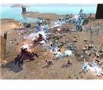 Cybran units attack an Illuminate base