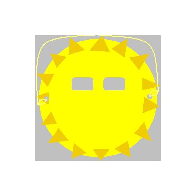 Paper Plate Sun Mask
