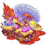Kirby at a volcano