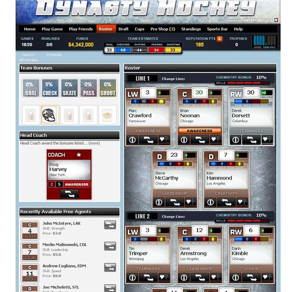 Dynasty Hockey Game Guide: Play hockey on Facebook