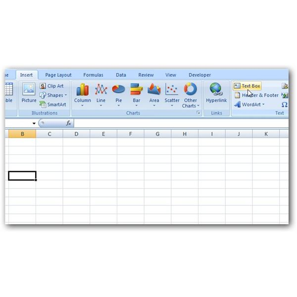 How to create a pert chart in microsoft excel 2007 insert text box ccuart Choice Image