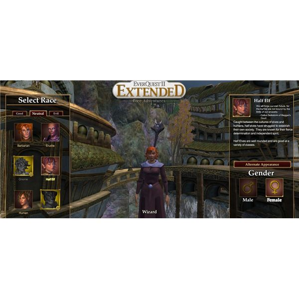 Everquest 2 Extended Race Selection