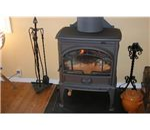 A wood stove