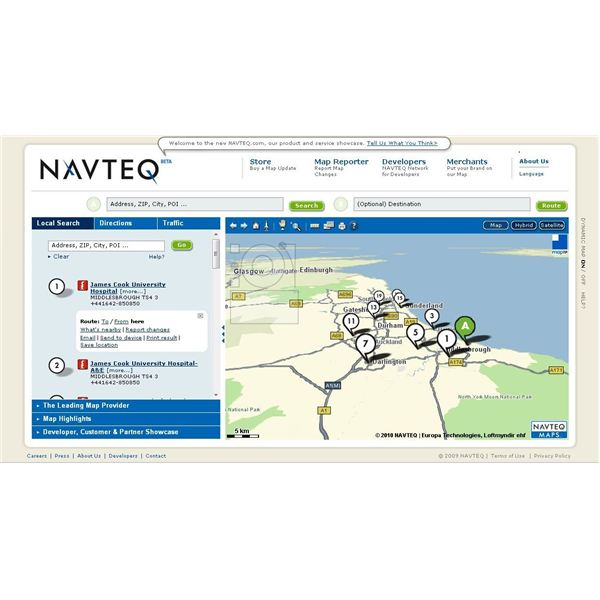 Navteq is an atlernative to Google Maps