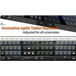 Thumb keyboard for Android tablets