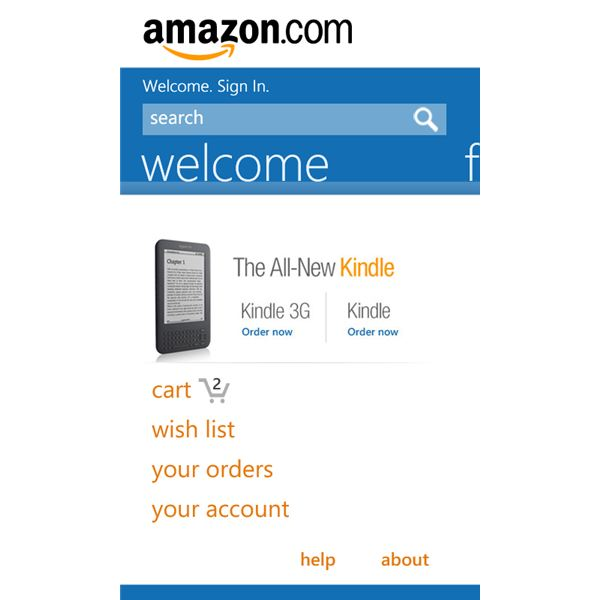 Amazon Official App for WP7