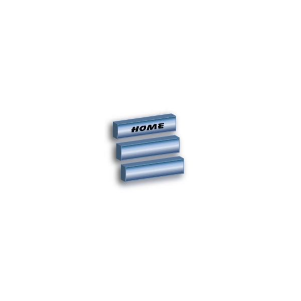 Adobe Illustrator CS3 Buttons - blue steel 3d slanted button - finished