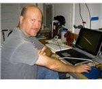 Pete Davison in the laboratory on New Horizon.