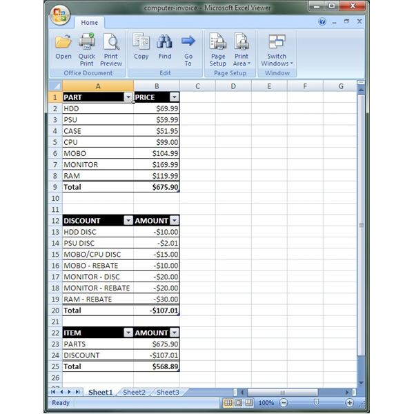 excel viewer for windows 10
