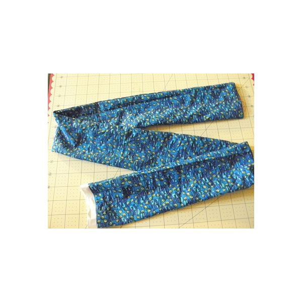 stitch across the tie to make a center section