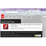 The current Adobe Flash player is not available for IE9- but you can download a beta version of it from Adobe