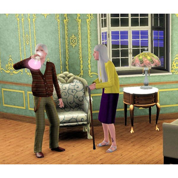 The Sims 3 young again potion in use