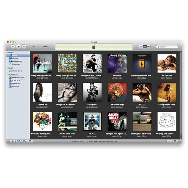 iTunes Grid View Dark