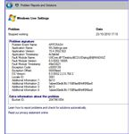 Windows Live Settings Problem Report: Update fails to install correctly