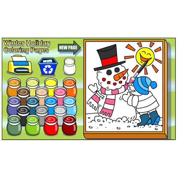 Kaboose Christmas Coloring Game