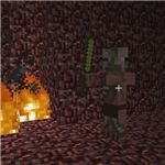 A Zombie Pig Man from Minecraft Survival Mode: Nether World