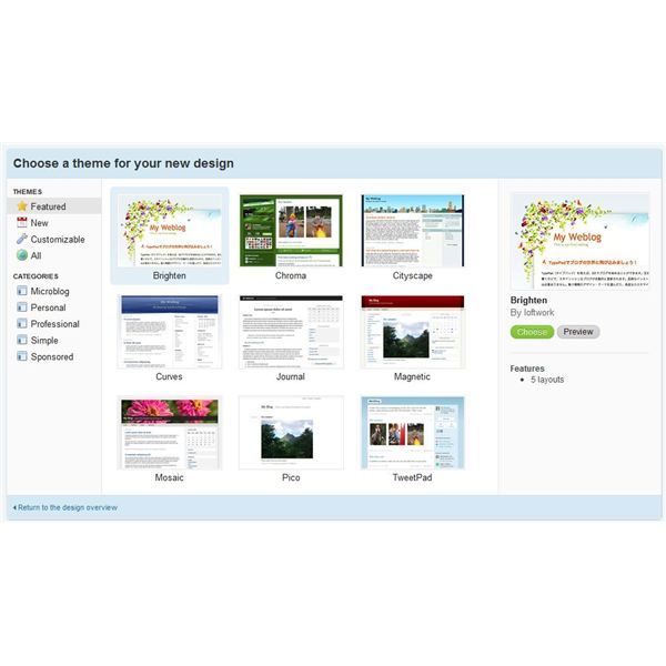 TypePad lets you design your own blog.