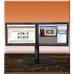 Dual LCD Desk Stand from Ergo In Demand