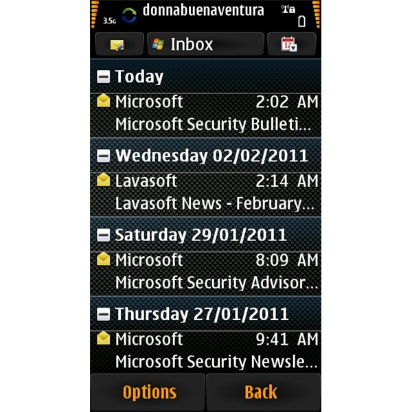Nokia N8 Email: Hotmail