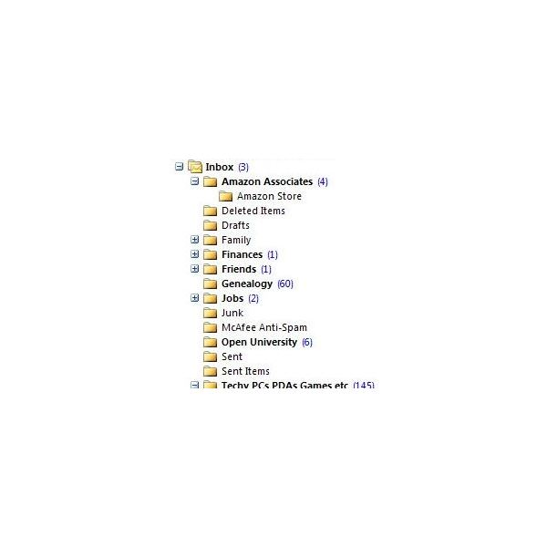 Organize MS Outlook email folders