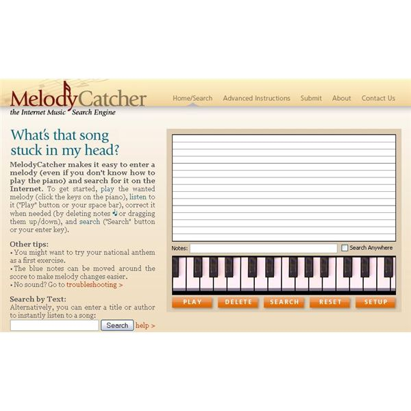 Melody Catcher Search Engine