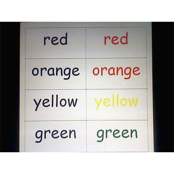 Color Word Match from ABC Teach