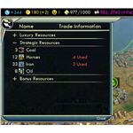User Interface in the Economy Mod