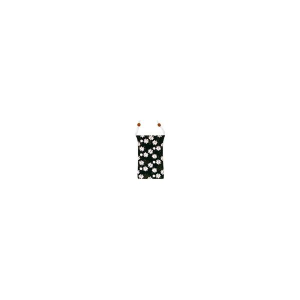 Black and White Flower Carrying Pouch