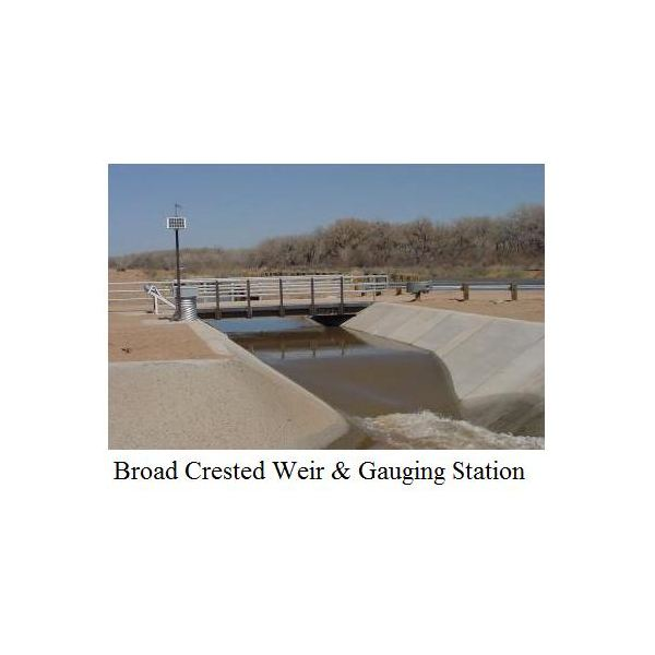Broad Crested Weir Flow Rate Calculations for Open Channel Flow Measurement with Excel Spreadsheets
