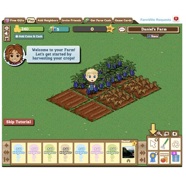 The Famous Farmville Facebook Game