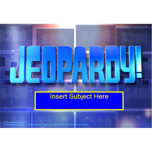 Interactive Whiteboard Games: Jeopardy!