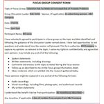 Focus Group Consent Form
