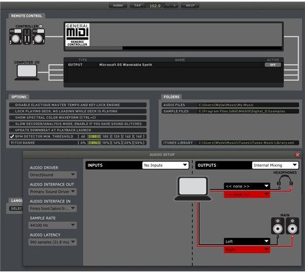 Best DJ Mixing Software: Digital DJ Setup Screen