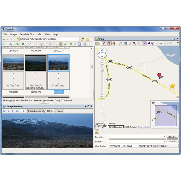 GeoSetter User Interface