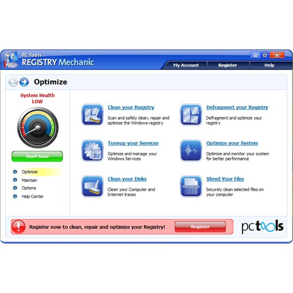Registry Mechanic by PC Tools is not a scam or fake software