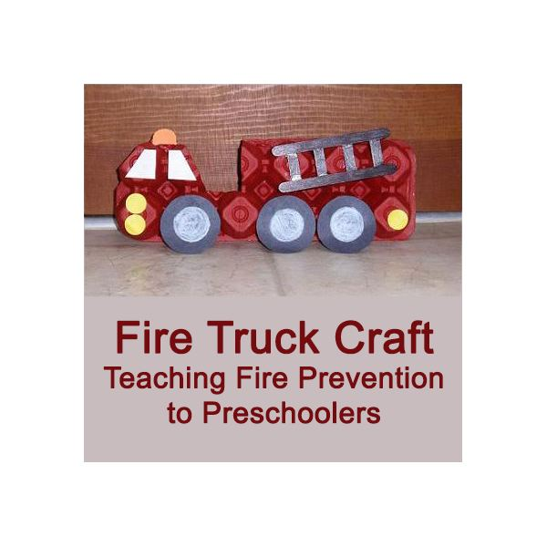fire safety crafts truck craft for preschool make egg 2020