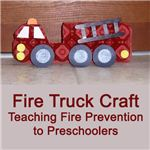Fire Truck Craft for Preschoolers