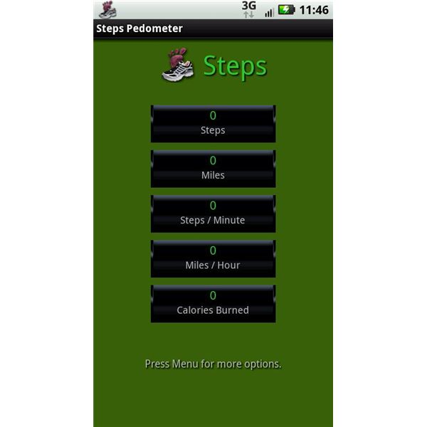 Steps Pedometer Android App