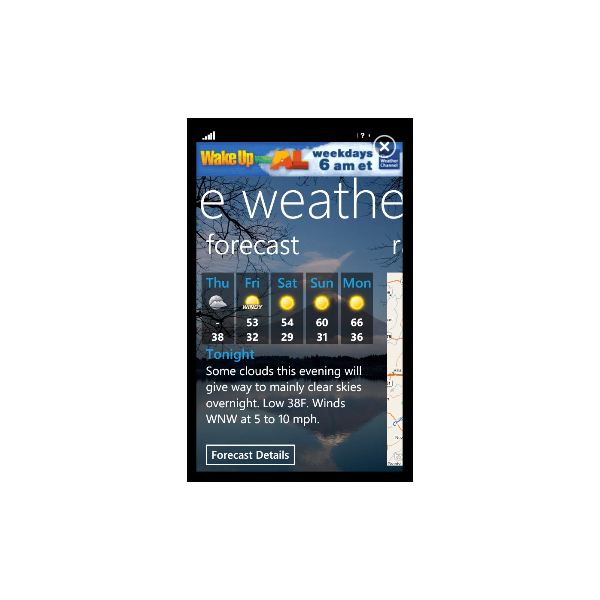 roundup of windows phone 7 weather apps