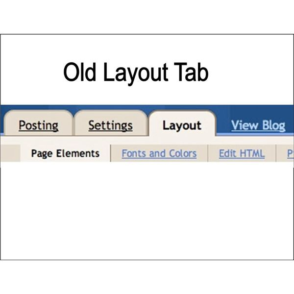 Blogger Old Layout Tab