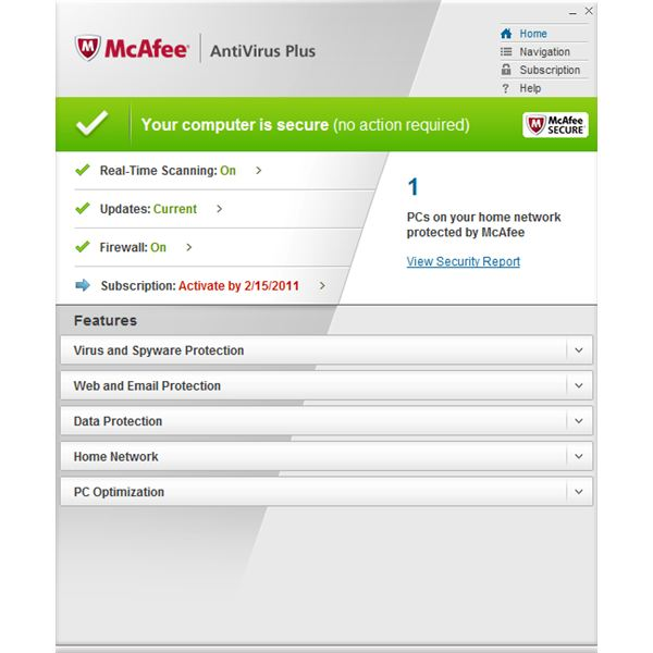 The New McAfee AntiVirus Plus 2011 Review