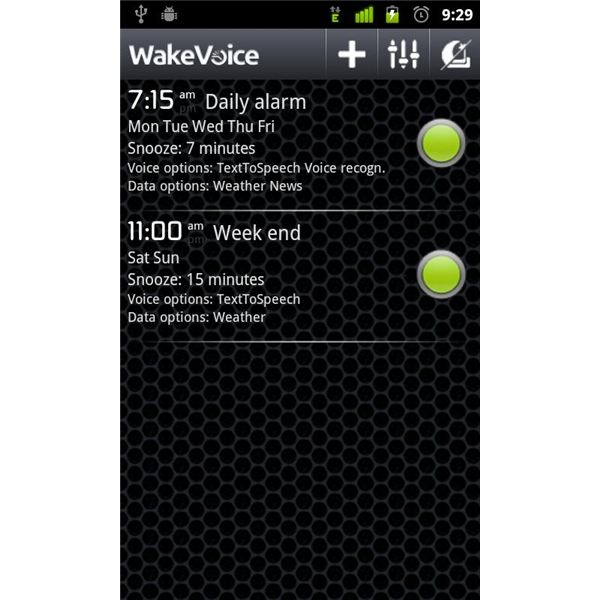 WakeVoice Vocal Alarm Clock Android App