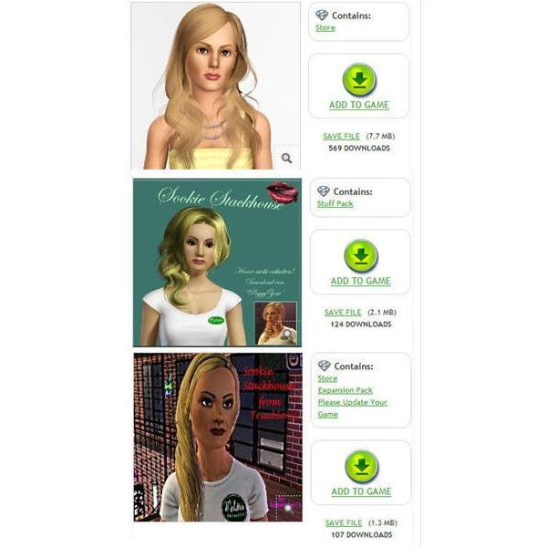 True Blood game on The Sims 3