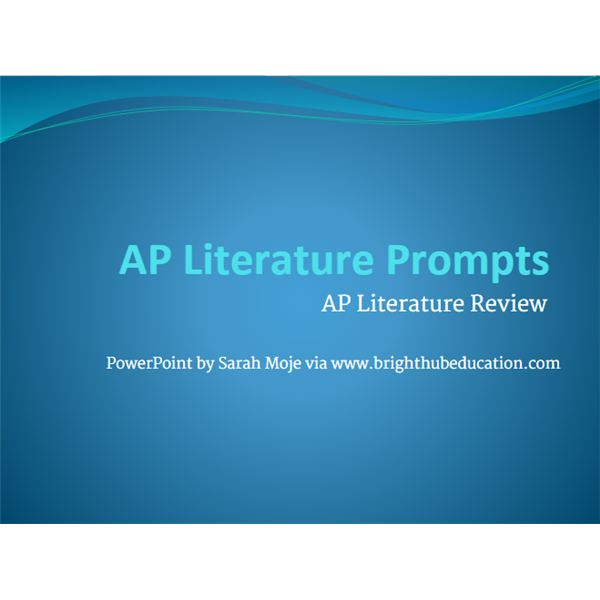 AP Literature Review: Resources to Review English AP With Your Class